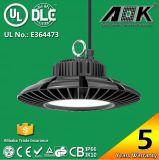 115-130lm/W UFO-100W 120W 150W hohes Cer Buchten Dlc UL-SAA mit Meanwell Fahrer