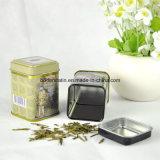 Kleiner quadratischer Tee-verpackenzinn-Kasten mit Nahrungsmittelgrad-Lack-China-Lieferanten