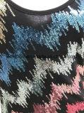 Черная тельняшка верхней части бака для женщин с глянцеватыми Sequins