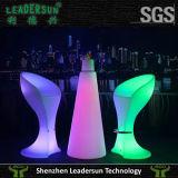 Mobília ao ar livre da iluminação da cadeira da barra do Rattan do banquete da luz do diodo emissor de luz da decoração