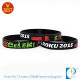 Wristbands di gomma su ordinazione di modo promozionale dell'OEM