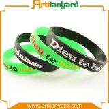 Wristband di gomma personalizzato del silicone con il regalo