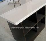 Branco Tabletop Tabletop de superfície contínuo acrílico superior da geleira de Corian dos gabinetes