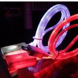 Зарядный кабель данным по USB длины OEM освещения оптовых продаж популярный цветастый СИД Moving