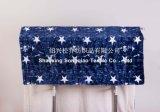 100% stella Coperta-Blu del bambino di /Soft della manovella del panno morbido di Sherpa stampata poliestere