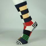 Men′ S-Sprung Striped Kleid-Baumwollsocken