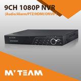 CCTV NVR del registrador de la red de 5best 9CH para el hogar, oficina, departamento, batería (MVT-N6409)
