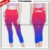pantalon coloré fait sur commande de yoga de femmes de qualité de mode
