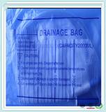 Transparenter Plastikmedizinischer Wegwerfkatheter mit Schrauben-Wert 1000ml mit Urin-Beutel