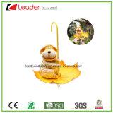 De Decoratieve Kikker van Polyresin met Paraplu Birdfeeder voor de Decoratie van de Boom en van de Tuin