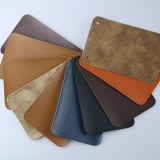 Umweltfreundliche heiße Verkaufs-Qualität PU-geprägtes Leder für Kennsatz