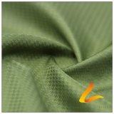 agua de 50d 310t y de la ropa de deportes tela Doble-Rayada tejida chaqueta al aire libre Viento-Resistente 100% de la pongis del poliester del telar jacquar de la tela escocesa del diamante abajo (53241D)