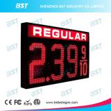 Grande sinal impermeável ao ar livre do preço de gás do diodo emissor de luz para o cambiador do preço de gás