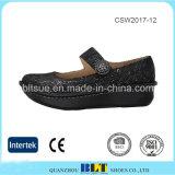 Plattform-Schuh-hochwertiger Beleg auf Müßiggänger verstopft beiläufige Schuhe
