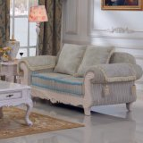 Sofà del tessuto con il blocco per grafici del sofà e la Tabella di legno del lato (D92B)