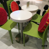 Журнальный стол белой искусственной каменной мебели малый