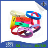 10 anos de fulgor Eco-Friendly dos Wristbands do silicone no bracelete escuro de Slicone