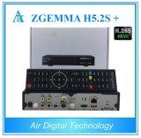 Tuners triples intelligents de DVB-S2+DVB-S2X/T2/C Zgemma H5.2s plus des tuners de satellite/câble de Multistream H. 265 de dual core