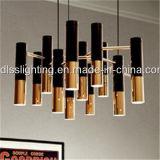 Lámpara pendiente del hierro creativo del oro del estilo de Europa para la iluminación decorativa del hotel