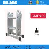 De vierkante Ladder van het Aluminium van de Stappen van de Buis Multifunctionele 4*2 Super Rechte