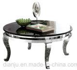 Серебристая круглая таблица конца мебели нержавеющей стали (CT902S)