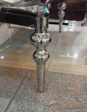 Edelstahl-Tisch-Badezimmer-Schrank-Brennkolben-geformte Tisch-Beine