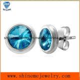 Серьга стержня уха ювелирных изделий с камнем