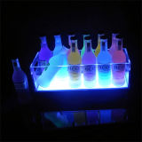 Clear LED Lighted Liquor Bottle Display pour la promotion du vin