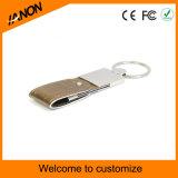 로고 인쇄를 가진 도매 휴대용 가죽 USB 섬광 드라이브