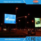 Visualización a todo color de la publicidad al aire libre P10 con el alto grado del IP