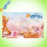 Cartão particular do presente do PVC com logotipo envernizado UV de Matt ou do destaque lustroso do revestimento