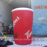 Taza publicitaria inflable modificada para requisitos particulares de la botella del café del nuevo diseño con alta calidad