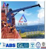 Guindaste a pouca distância do mar do navio do crescimento telescópico hidráulico da junta