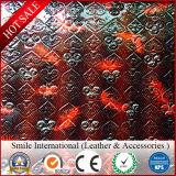Le cuir synthétique de PVC avec grave en relief pour la décoration de sacs de sofa