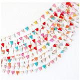 Empavesado de marcado impreso aduana colorida del indicador del triángulo para la decoración