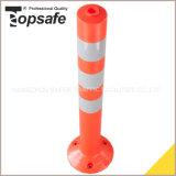 Poste de advertencia de la PU del color anaranjado con la cinta reflexiva 3PCS (S-1403)