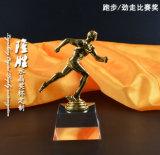 Arte corriente del trofeo del metal cristalino de los deportes