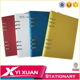 Organizador de capa dura de alta qualidade Notebook PU Leather Cover Notebook Diary