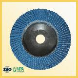 disque d'aileron de zirconium de 115mm pour le polonais d'acier inoxydable