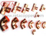 Kupferne Befestigung 90 Grad-Krümmer für kupferne Rohrverbindung