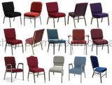 금속 쌓을수 있는 덧대진 교회 의자