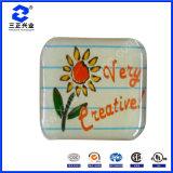 Autocollant d'étiquette de dôme en résine résistant à l'époxy résistant aux fleurs (SZXY069)