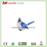 Nuova statua blu dipinta a mano dell'uccello di Polyresin per i mestieri della decorazione e del regalo del giardino