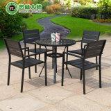 안뜰 옥외 정원 홈 호텔 사무실 대중음식점 Polywood 테이블과 팔 의자 (J812)