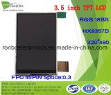 """écran tactile de TFT LCD de 3.5 """" 320X480 RVB, Hx8357D, 45pin pour la position, sonnette, médicale"""