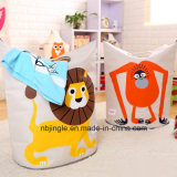 Sac pliable bon marché de vente chaud de panier de blanchisserie de toile du lion 2016 pour le bébé Toys&Clothes