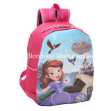 Os desenhos animados pequenos do ombro encantador da trouxa das meninas caçoam o saco de escola