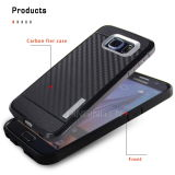 Het duurzame Geval van de Telefoon van de Vezel van de Koolstof voor de Melkweg van Samsung S6