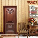 Portas cinzeladas da madeira contínua da casa de campo do estilo porta luxuoso (GSP2-005)