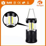 Lanterna de acampamento portátil barato telescópica da lanterna da venda de Drect da fábrica